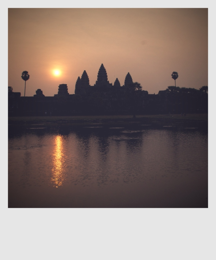 Sunrise in Angkor Wat.